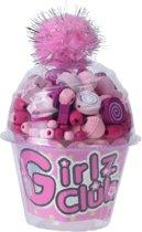 Free And Easy Kralenset Cupcake Roze 12 Cm