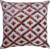 KAAT Amsterdam Red Weaving - Sierkussen - 40x40 cm - Rood