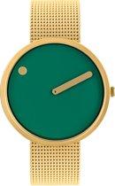 Picto PT43377-0920 Horloge - Staal - Goudkleurig - 40 mm