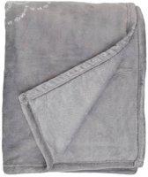 Unique Living Bloem - Fleece - Plaid - 130x160 cm - Grey