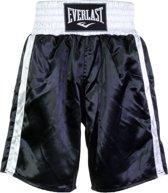 Everlast Pro Boxing Short Boksbroek - Maat M  - Unisex - zwart/wit