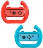 Nintendo Switch Stuur Controller Hoesje - rood/blauw