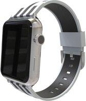 watchbands-shop.nl bandje - Apple Watch Series 1/2/3/4 (38&40mm) - GrijsZwart