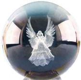 Kristal ontstoor bol 3D Engel 6 cm
