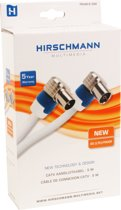Hirschmann FEKAB 9 - RF-kabel - IEC-connector (V) - IEC-connector (M) - 5 m - coaxiaal - wit