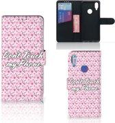 Xiaomi Redmi Note 7 Portemonnee hoesje Flowers Pink DTMP