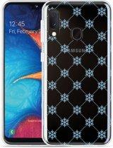 Galaxy A20e Hoesje Snowflake Pattern