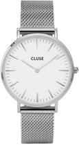 CLUSE CL18105 LA Bohème Mesh - Horloge - Staal - Ø 38 mm