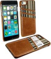 Alston Craig - Lederen hoes met kaarthouder voor iPhone 7 en iPhone 8 - Bruin