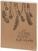 Kalpa D3900 Sketchbook Feathers 26 x 19 cm 240 p