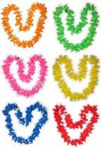 Hawaii gekleurde bloemenkransen pakket 6 personen
