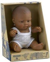 Miniland pop Latijns / Amerikaans jongetje badpop 21 cm
