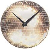 NeXtime Tafelklok Little Disco Glas - ø20 cm
