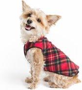 Goldpaw - Stretch Fleece hondenjas - Rood geruite pullover - maat 18 - grote maten