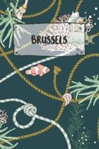 Brussels: Ruled Travel Diary Notebook or Journey Journal - Lined Trip Pocketbook for Men and Women with Lines