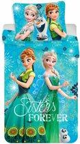 Disney Frozen Sisters Forever - Dekbedovertrek - Eenpersoons -  140x200 - Multi