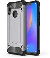 Let op type!! Diamond Armor PC + TPU warmtedissipatie beschermende case voor Huawei Nova 3i (grijs)