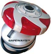 Safeways - LED 6 rode en 5 witte - waarschuwings UFO. Signalering en veiligheid LED lamp.