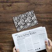 iPad Mini 4 Uniek Tablethoesje Black Flowers