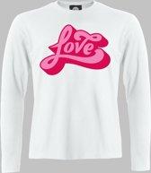 Longsleeve M Love - Wit - M - XXXXL Sportshirt