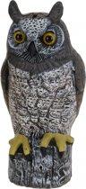 Decoratie uil bruin met wit 41 cm