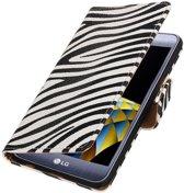 Zebra booktype wallet cover hoesje voor LG X Cam