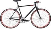 Ks Cycling Fiets 28 inch fixie singlespeed Flip Flop in zwart-rood -