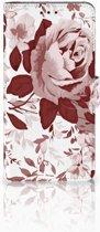Samsung Galaxy J4 Plus (2018) Uniek Boekhoesje Watercolor Flowers