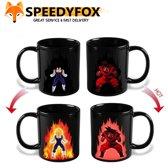 2 Stuks Dragonball Z - Mok - Warmte Verwarmend - Heat Changing Mug - Thee Beker - Magic Mug - Koffie Mok - Saiyan - Anime - TV Serie - Goku - Vegeta - Gift - Cadeau - Speedyfox