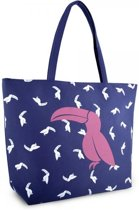 Luna Cove TOUKAN Strandtas Shopper Canvas Blauw