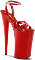 EU 40 = US 10 | BEYOND-012 | 10 Heel, 6 1/4 PF Wrap Around Ankle Strap Sandal