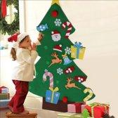 Vilten kerstboom voor kinderen - incl led verlichting & klittenband speelgoed – Kinder kerstboom - Kerstcadeau