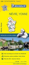 Nievre / yonne 11319 carte ' local ' ( France ) michelin kaart