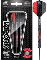 Target Vapor8 80% Black Red 23 gram Steeltip Darts