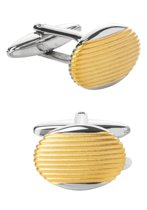 Manchetknopen - ovaal zilver / goud