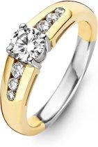 Moments Ring  15044AY/58 Zilver geelgoudverguld 18.50 mm (58) Ring met stenen Zirkonia