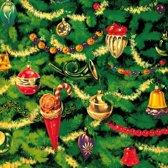 Kerst servetten kerstboom thema 20 stuks - wegwerpservetten