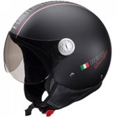 Beon Design - Mat zwart - Jethelm - Scooterhelm - Motorhelm - XXL / 61