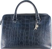 by LouLou 12BAG Vintage Croco Shopper - Dark Blue