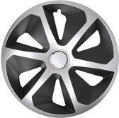 Proplus Wieldoppen Roco 16 Inch Zilver/zwart Set Van 4