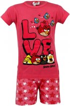 Angry Birds korte pyjama kinderen roze 104-110