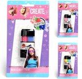 Create It! Haar- En Lichaamskrijt 2 Stuks Meisjes Groen/geel