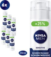 NIVEA MEN Sensitive Scheerschuim - 6 x 250 ml