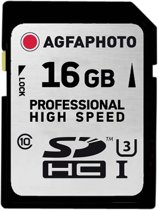 AgfaPhoto SDHC kaart UHS I 16GB Professional High Speed 90/45
