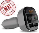 Beste kwaliteit | 5 in 1 Draadloze Universele Bluetooth Carkit Auto MP3 Speler | FM transmitter | LED Display | Handsfree bellen | 2 x High Speed USB Oplader | SD,TF Card Ondersteuning | USB Stick