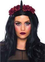 Duistere eenhoorn haarband voor vrouwen - Verkleedattribuut