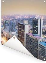 Moderne gebouwen van het centrum van Nairobi in het oosten van Afrika Tuinposter 120x160 cm - Tuindoek / Buitencanvas / Schilderijen voor buiten (tuin decoratie) XXL / Groot formaat!