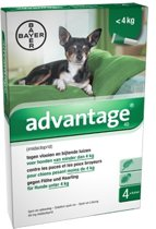 Bayer Anti vlooienmiddel Advantage 40 1 - 4 kg - 4 pipetten