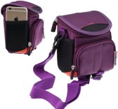 Navitech Digitale Camera Hoes Tas Voor De Nikon - Paars