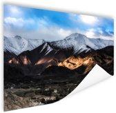 Leh Ladakh stad vlakbij Himalaya Poster 180x120 cm - Foto print op Poster (wanddecoratie woonkamer / slaapkamer) / Natuur Poster XXL / Groot formaat!